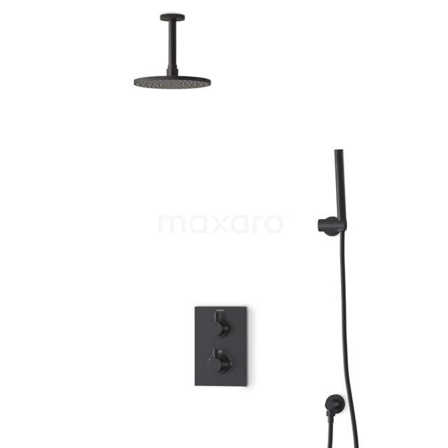 Regendouche Set Radius Black 20cm Inbouw Thermostaat Zwart BIZ55-00032