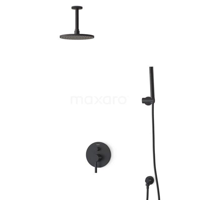 Regendouche Set Radius Black 20cm Inbouw Eéngreeps Zwart BIZ55-00033