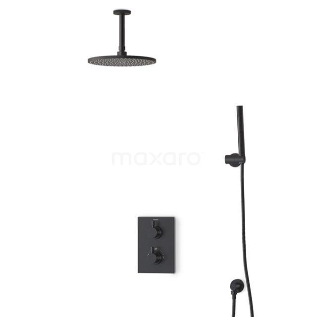 Regendouche Set Radius Black 25cm Inbouw Thermostaat Zwart BIZ55-00035