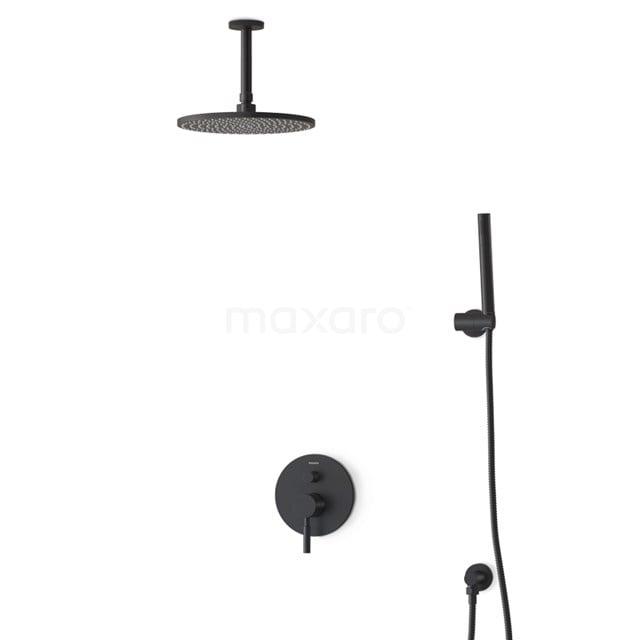 Regendouche Set Radius Black 25cm Inbouw Eéngreeps Zwart BIZ55-00036