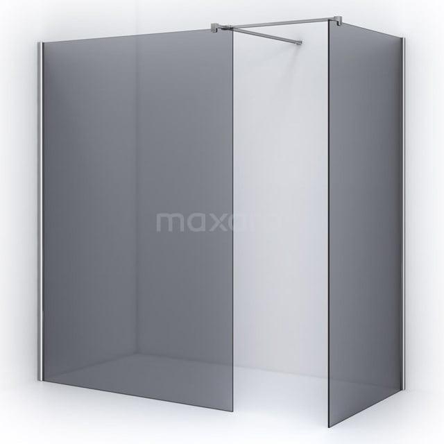Inloopdouche 140x100cm Rookglas Veiligheidsglas 8mm Chroom IPB1410501C