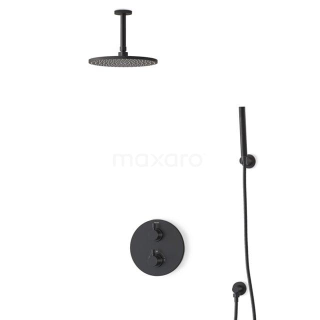 Regendouche Set Radius Black 25cm Inbouw Thermostaat Zwart BIZ55-00058