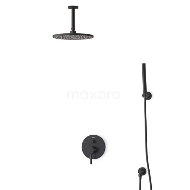 Regendouche Set Radius Black 25cm Inbouw Eéngreeps Zwart BIZ55-00060