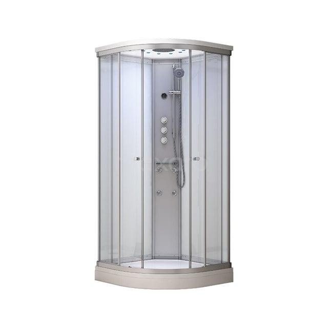 Complete Douchecabine 90x90cm Wit Modera Watermassage LED Verlichting AK0909-420100