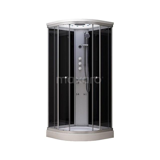 Complete Douchecabine 100x100cm Zwart Modera Watermassage LED Verlichting AK1010-421100