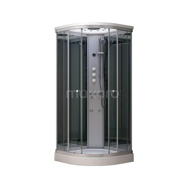 Complete Douchecabine 80x80cm Spiegelglas Modera Watermassage LED Verlichting AK0808-422100