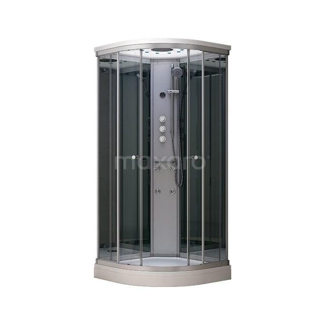 Complete Douchecabine 90x90cm Spiegelglas Modera Watermassage LED Verlichting AK0909-422100