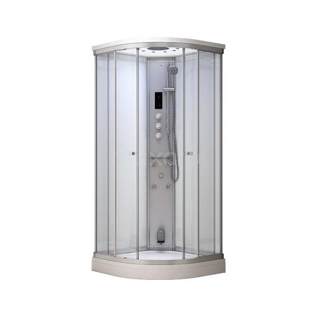 Stoomcabine Modera 100x100cm Wit Mistjets Watermassage LED AK1010-520100