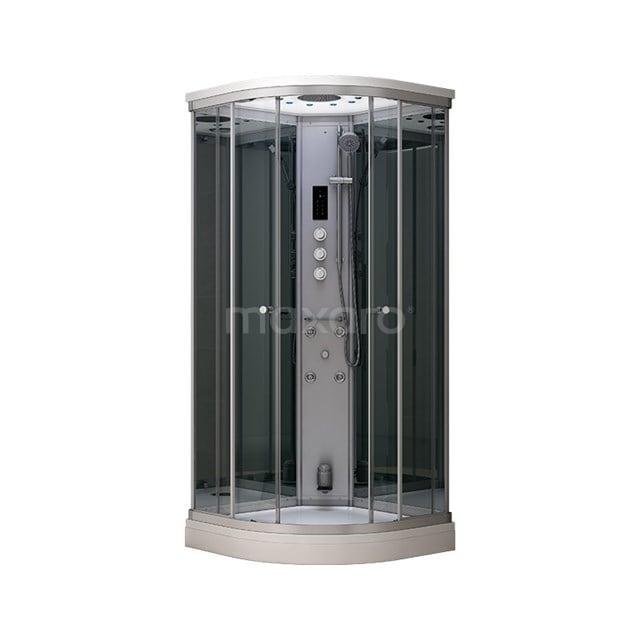 Stoomcabine Modera 80x80cm Spiegelglas Mistjets Watermassage LED AK0808-522100