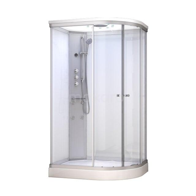 Complete Douchecabine 120x90cm Wit Modera Watermassage LED Verlichting AK1209-420101