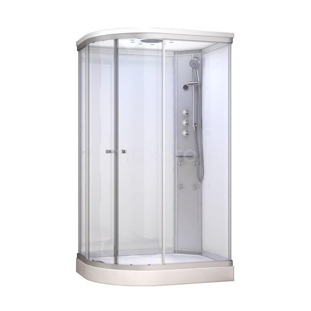 Complete Douchecabine 120x90cm Wit Modera Watermassage LED Verlichting AK1209-420102