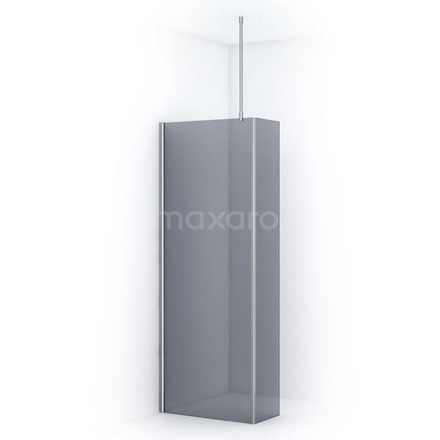 Inloopdouche met Zijwand Pearl 80cm Rookglas Veiligheidsglas 8mm Chroom IPC082701C