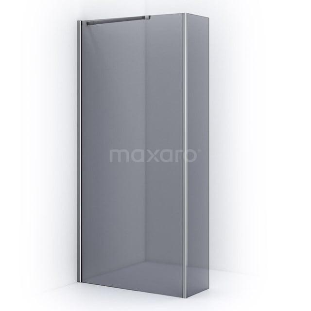 Inloopdouche met Zijwand 100cm Rookglas Veiligheidsglas 8mm Chroom IPC102101C