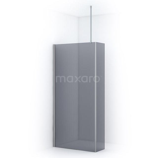 Inloopdouche met Zijwand Pearl 100cm Rookglas Veiligheidsglas 8mm Chroom IPC102701C