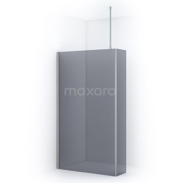 Inloopdouche met Zijwand Pearl 120cm Rookglas Veiligheidsglas 8mm Chroom IPC122701C