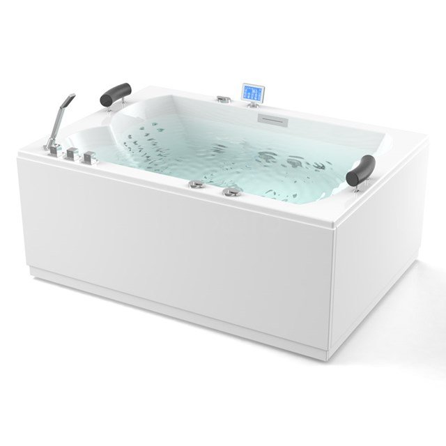 Whirlpool Bad Atlantic Platinum 2 Persoons 180x120cm Water- en luchtmassage met Turbo W08014EM