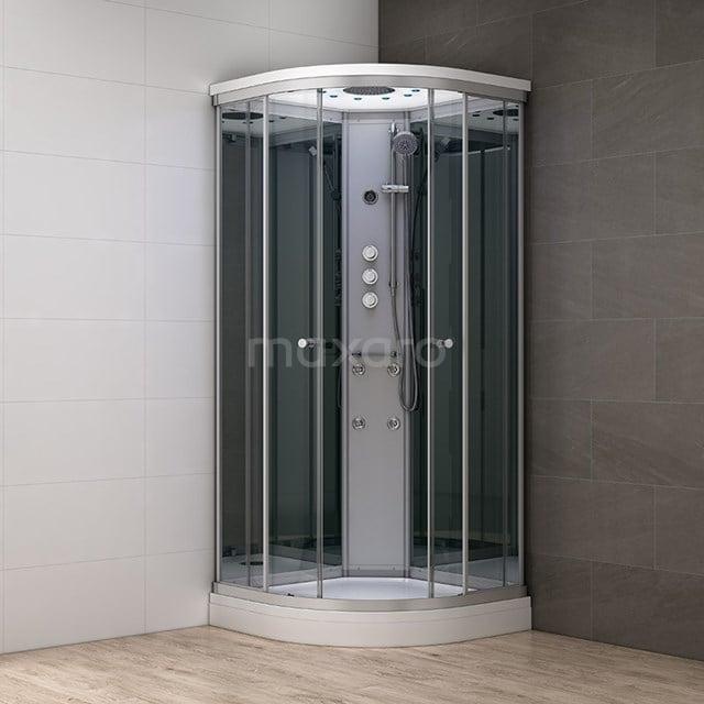 Complete Douchecabine 100x100cm Spiegelglas Modera Watermassage LED Verlichting AK1010-422100
