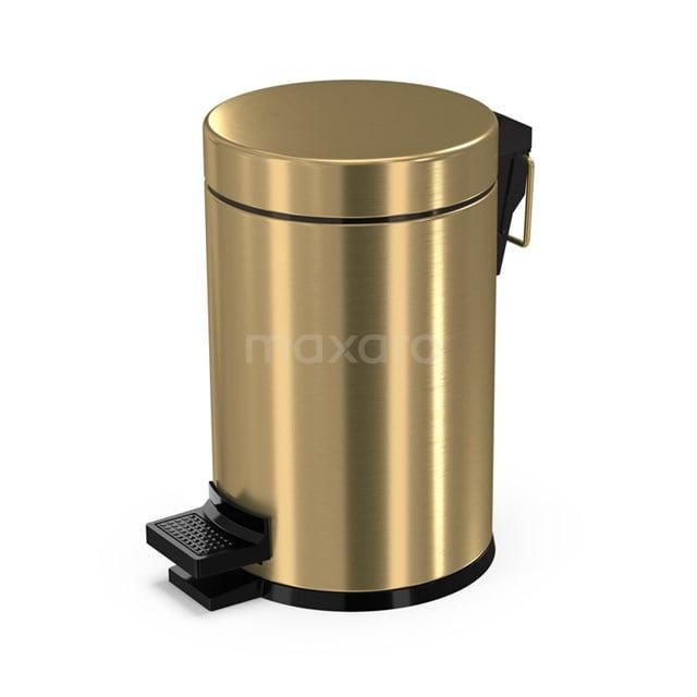 Pedaalemmer Radius Gold voor Badkamer en Toilet, 3 liter, Goud 200-5201GG