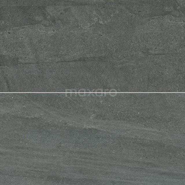 Vloertegel/Wandtegel Alpen Basalt 30x60cm Natuursteenlook Antraciet Gerectificeerd 303-010202