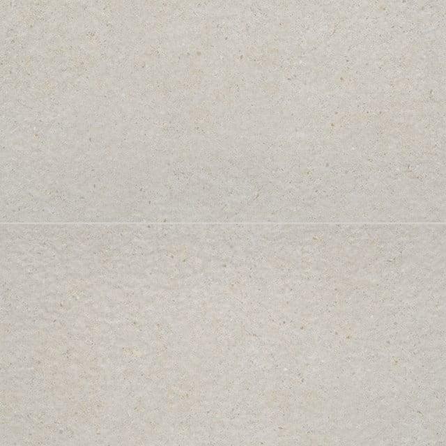 Vloertegel/Wandtegel Viene Grijswit 30x60cm Natuursteenlook Wit Gerectificeerd 303-030201