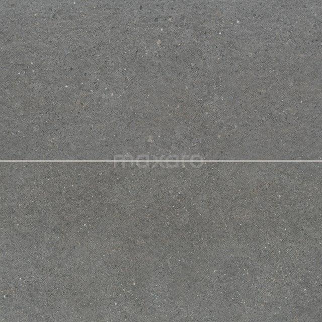 Vloertegel/Wandtegel Viene Ombergrijs 30x60cm Natuursteenlook Antraciet Gerectificeerd 303-030204