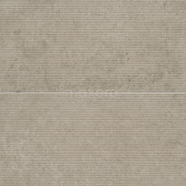 Vloertegel/Wandtegel Pavera Crema Reliëf 30x60cm Natuursteenlook Beige Gerectificeerd 303-060301