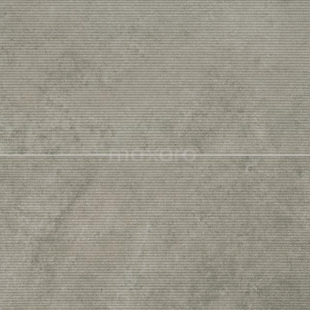 Vloertegel/Wandtegel Pavera Gris Reliëf 30x60cm Natuursteenlook Grijs Gerectificeerd 303-060302