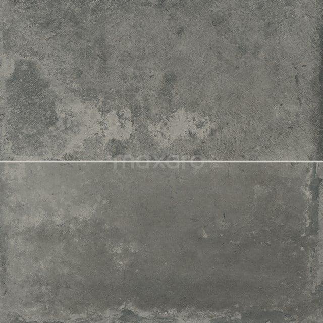 Vloertegel/Wandtegel City Night 30x60cm Betonlook Antraciet Gerectificeerd 304-010203