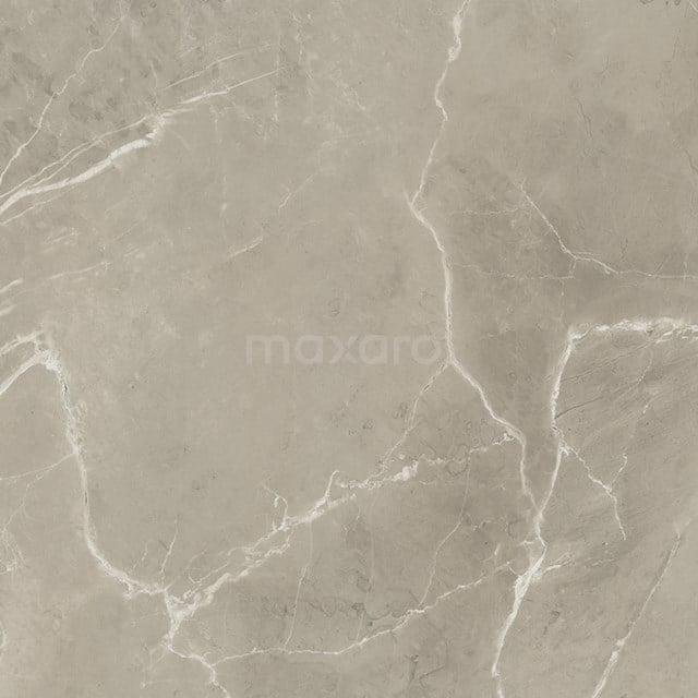 Vloertegel/Wandtegel Lucido Greige Glans 60x60cm Marmerlook Gerectificeerd 503-050104
