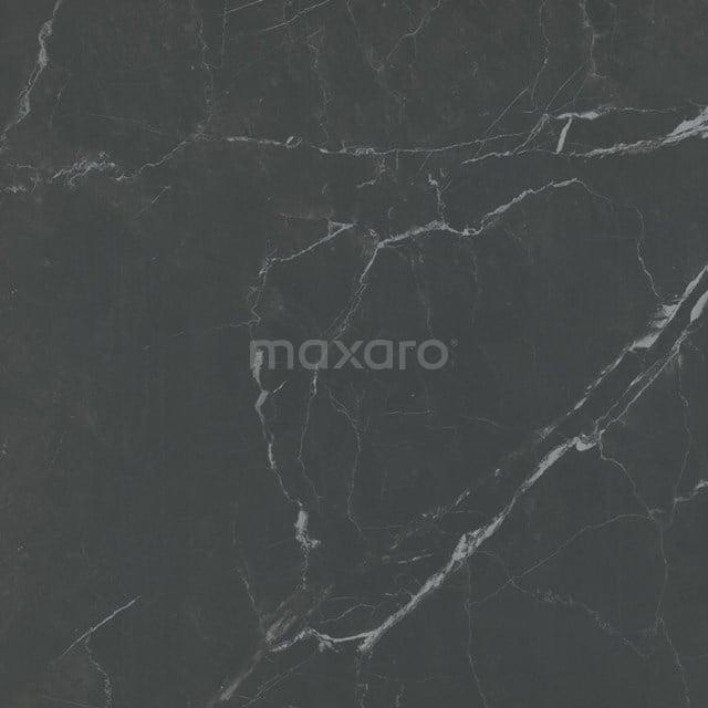 Vloertegel/Wandtegel Lucido Zwart Mat 60x60cm Marmerlook Gerectificeerd 503-050105