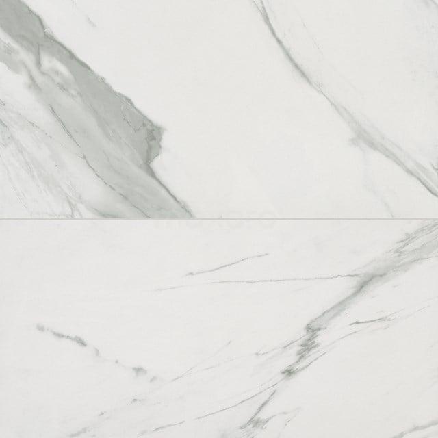 Vloertegel/Wandtegel Lucido Wit Mat 30x60cm Marmerlook Gerectificeerd 503-050202