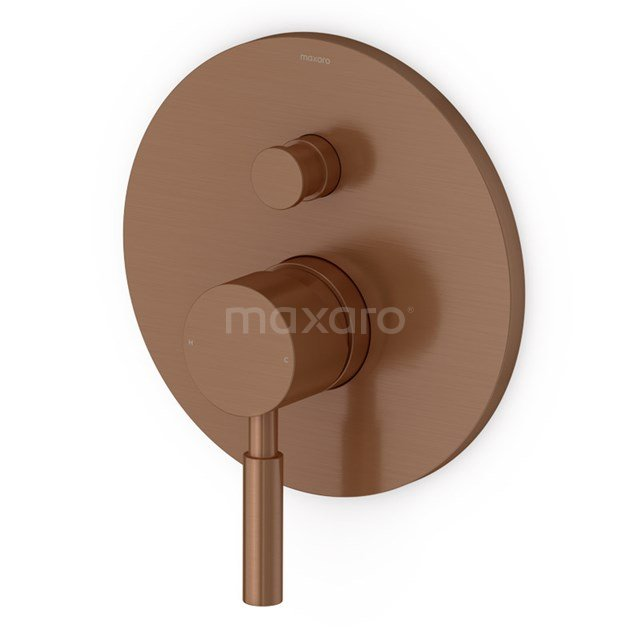 Inbouw Douchekraan Radius Copper, Eéngreeps Mengkraan, Koper 55.151.101KPNS