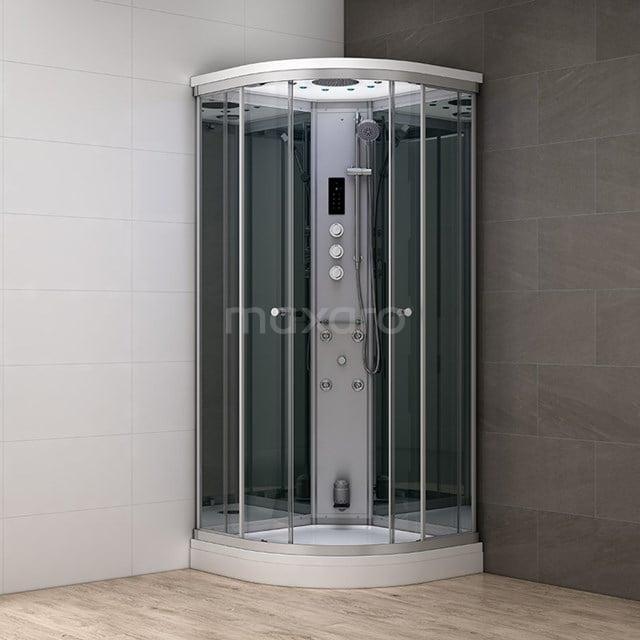 Stoomcabine Modera 100x100cm Spiegelglas Mistjets Watermassage LED AK1010-522100