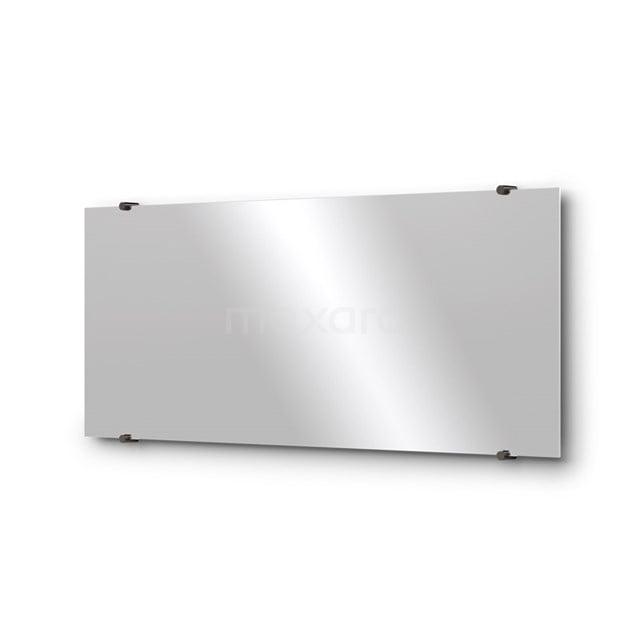 Badkamerspiegel Solo 100x40cm Spiegelhouders Rond Zwart Chroom M01-100420BC