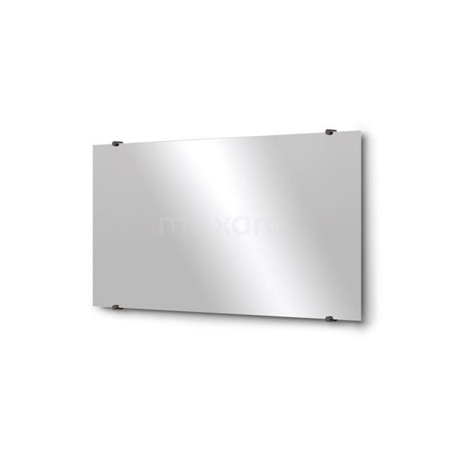 Badkamerspiegel Solo 100x50cm Spiegelhouders Rond Zwart Chroom M01-100520BC