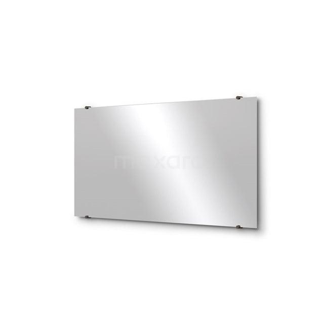 Badkamerspiegel Solo 120x60cm Spiegelhouders Rond Zwart Chroom M01-120620BC