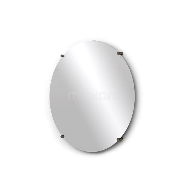 Badkamerspiegel 60 cm Rond Spiegelhouders Rond Zwart Chroom M25-0620BC