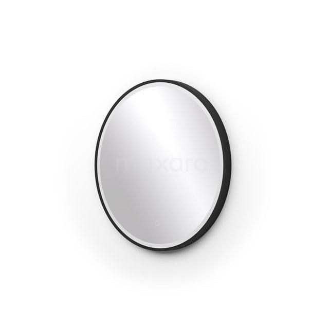 Ronde badkamerspiegel zwart met LED Verlichting 60 cm M45-0600-43180
