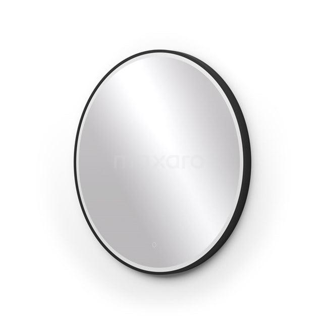 Ronde badkamerspiegel zwart met LED Verlichting 80 cm M45-0800-43180