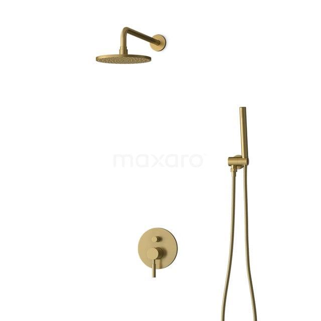 Inbouw Regendoucheset Radius Gold, Eéngreeps Mengkraan, 20cm Hoofddouche, Goud BIG55-00006