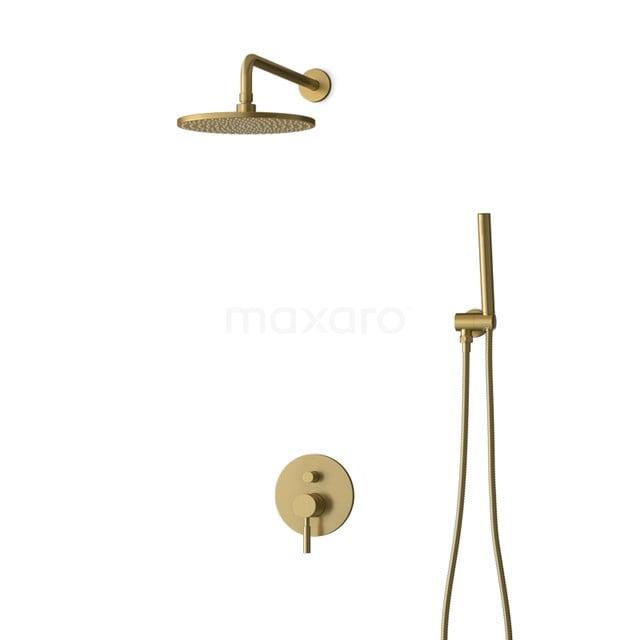 Inbouw Regendoucheset Radius Gold, Eéngreeps Mengkraan, 25cm Hoofddouche, Goud BIG55-00008