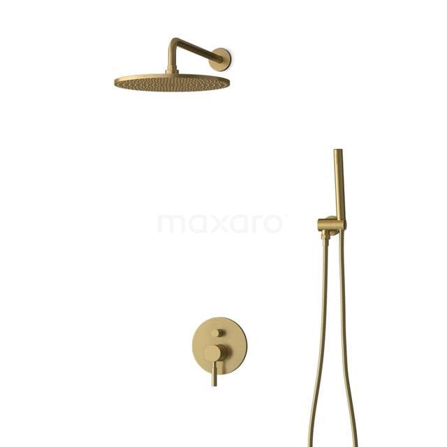 Inbouw Regendoucheset Radius Gold, Eéngreeps Mengkraan, 30cm Hoofddouche, Goud BIG55-00011
