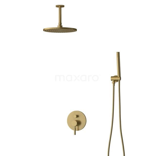 Inbouw Regendoucheset Radius Gold, Eéngreeps Mengkraan, 25cm Hoofddouche, Goud BIG55-00017