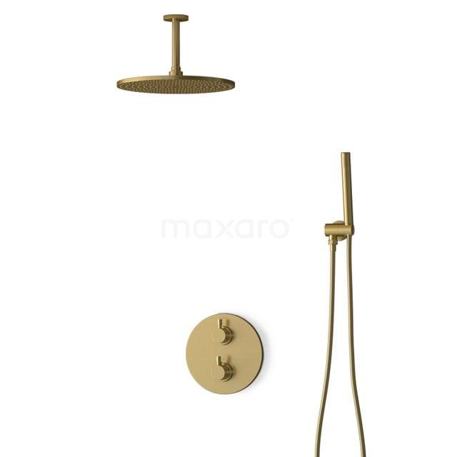Inbouw Regendoucheset Radius Gold, Thermostaatkraan, 30cm Hoofddouche, Goud BIG55-00018