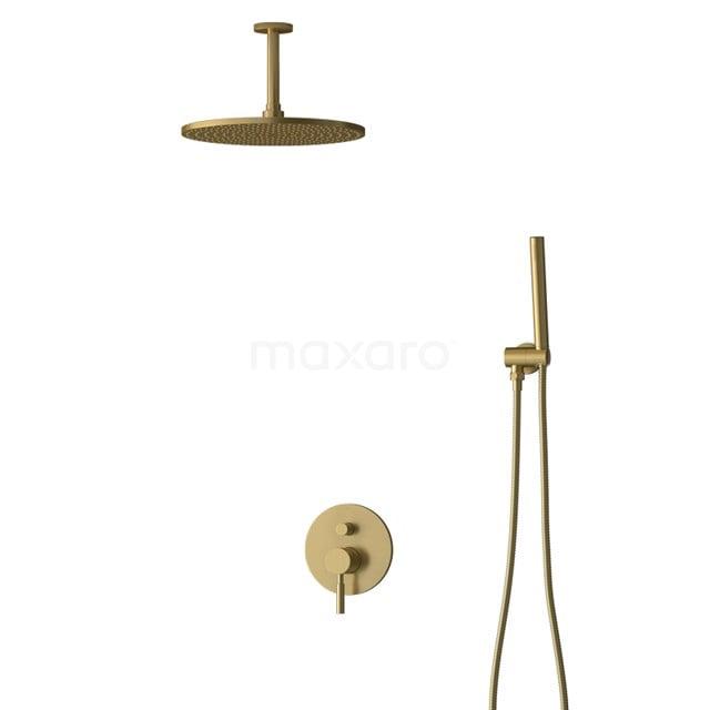 Inbouw Regendoucheset Radius Gold, Eéngreeps Mengkraan, 30cm Hoofddouche, Goud BIG55-00020