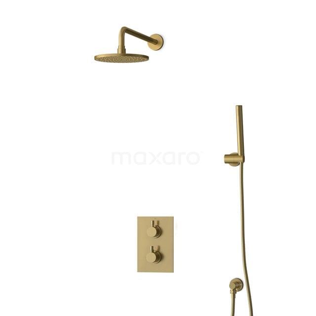 Inbouw Regendoucheset Radius Gold, Thermostaatkraan, 20cm Hoofddouche, Goud BIG55-00021