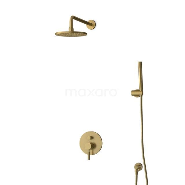 Inbouw Regendoucheset Radius Gold, Eéngreeps Mengkraan, 20cm Hoofddouche, Goud BIG55-00022