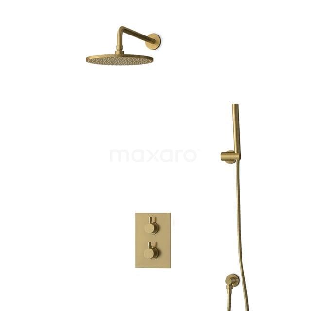 Inbouw Regendoucheset Radius Gold, Thermostaatkraan, 25cm Hoofddouche, Goud BIG55-00023