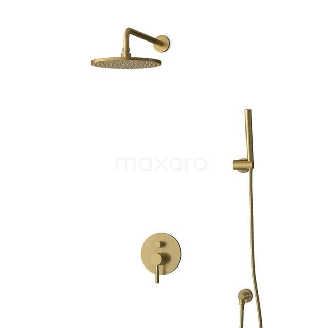Inbouw Regendoucheset Radius Gold, Eéngreeps Mengkraan, 25cm Hoofddouche, Goud BIG55-00024