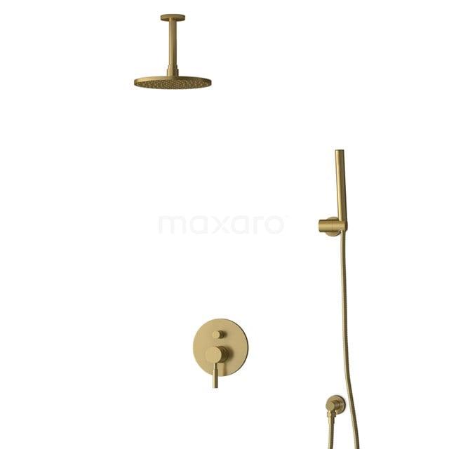 Inbouw Regendoucheset Radius Gold, Eéngreeps Mengkraan, 20cm Hoofddouche, Goud BIG55-00030